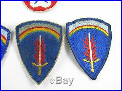 World War 2 WW2 WWII Patches Patch Lot US Army Europe 6th Armored Division
