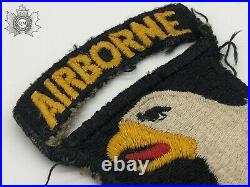 World War Two US Army 101st Airborne Division Patch Type 7 Eagle Tunic Removed
