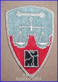 Ww2 Era Us Army Nuremberg District War Crimes Insignia Patch