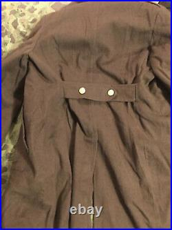 Ww2 French Army Converted US Overcoat Added Is Army Original Buttons Patch