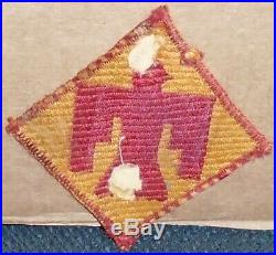 Ww2 U. S. Army 45th Division Woven Italian Made Patch -very Rare