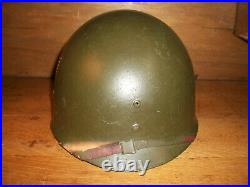 Ww2 U. S. Army 98th Infantry Division Marked Iroquois Helmet Liner Very Nice