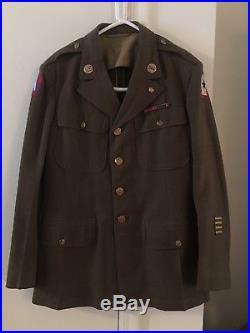 Ww2 Us Army Em Wool Jacket 5 Th Army Patch Big Size