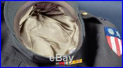 Ww2 Us Army Flight Nurse Uniform & Cap, Theater-made Cbi Patch