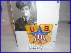 Ww2 Us Army USA Patch And Picture Of Un-named Soldier Lot