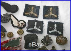 Ww2 badges -WW2 British /US Military Badges Patch Army RAF Sweetheart Buttons