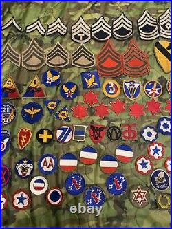 Ww2 era US Army Patch Lot USAAF, Armored, Infantry Division