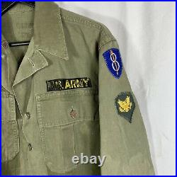 Wwii Korean War US Army Hbt Jacket 8th Division Patch