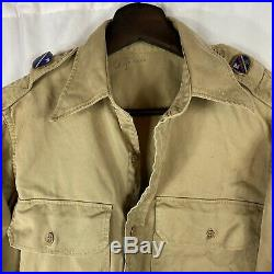 Wwii US Army Shirt 40th Bullion Patch 160th Infantry Regiment California