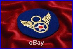 Wwii U. S. 8th Army Air Force Patch British Made, Stubby Wing Type