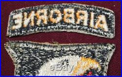 Wwii U. S. Army 101st Airborne Division Patch & Tab D-day Invasion