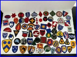 Wwii Us Army Patch Lot (69) Infantry, Airborne & Calvalry Divisions Original