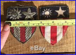 X 2 Vintage WWII US Army Air Force CIB China Burma India Flying Tigers Patches
